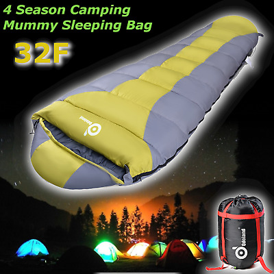 Lightweight Mummy Sleeping Bag Camping Backpacking Warm Soft Waterproof Outdoor