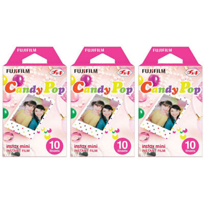 30 sheets Fujifilm Instax Mini 8 9 Film Candy pop Instant Photo Paper For 70 7s