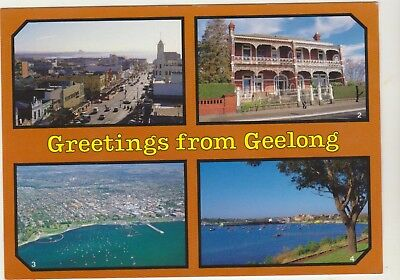 Multiscene Geelong Victoria Biscay Postcard