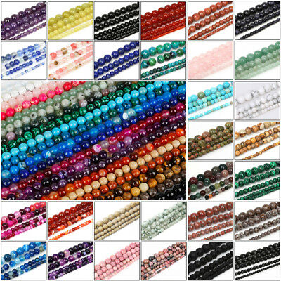 Bulk Wholesale Natural Round Healing Gem Spacer Stone Beads Making 4/6/8/10 MM
