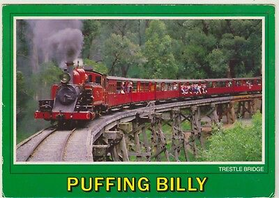 Trestle Bridge Puffing Billy Railway The Dandenongs Victoria Scancolor Postcard