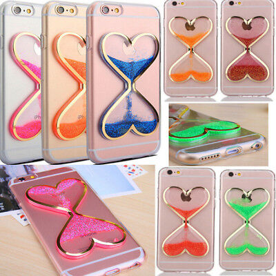 Dynamic Soft Case Cover Quicksand Glitter Liquid Clear NEW For iPhone 5S/6s Plus
