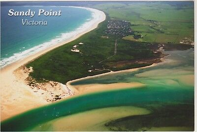 Aerial View Sandy Point Victoria Foons Postcard