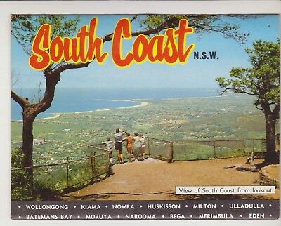Foldout South Coast Nsw 11 Scenes  Murray Views Postcard