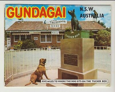 Foldout Gundagai Nsw 11 Scenes  Murray Views Postcard
