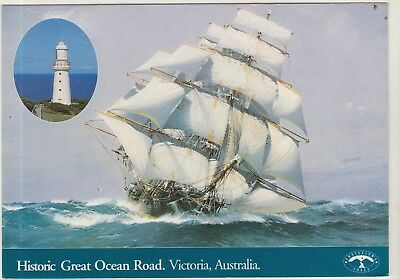 The Flying Cloud Shipping Victoria Large 170Mm X 117Mm Travellers Postcard