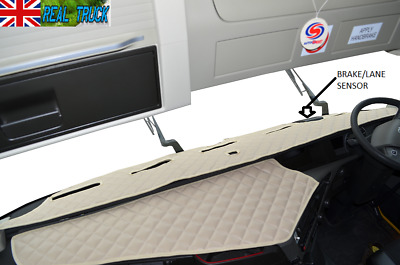 Truck Eco Leather Dash Mat With Space For Sensor  Fit  Volvo  Fh 4 2013+ [ Beige