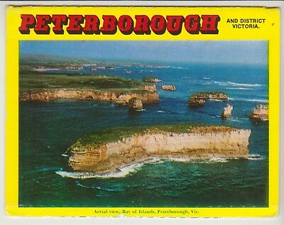 Foldout Peterborough Victoria 11 Scenes Rose Postcard