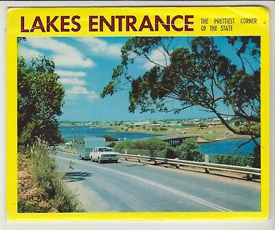 Foldout Lakes Entrance Victoria 10 Scenes Rose Postcard