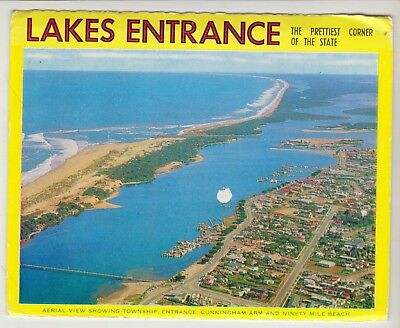 Foldout Lakes Entrance Victoria 11 Scenes Rose Postcard
