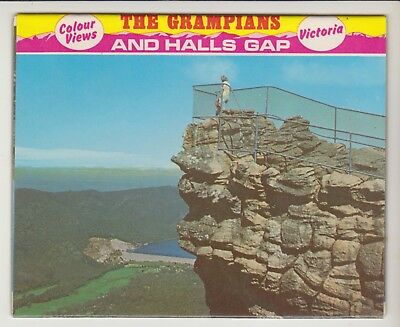 Foldout The Grampians And Halls Gap Victoria 12 Scenes Pitt Postcard