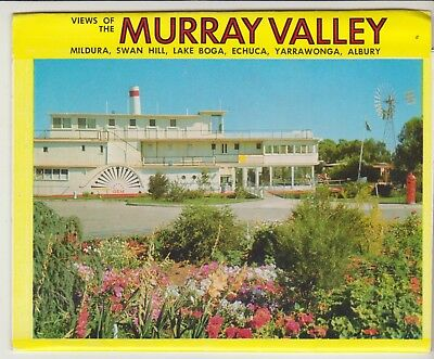 Foldout Murray Valley Victoria 10 Scenes Rose Postcard