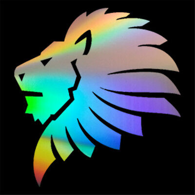 Lion Head Silhouette Funny Sticker Car Window Bumper Laptop Door Vinyl Decal