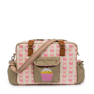 Pink Lining Yummy Mummy Luxury Baby Changing Nappy Bag - Pink Butterflies