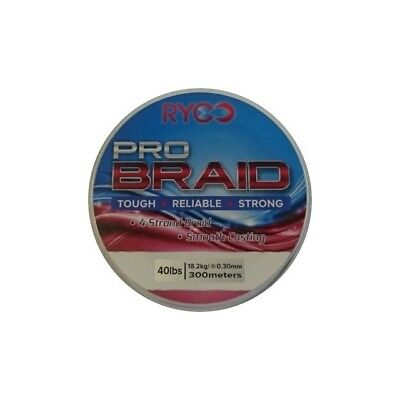 Ryco Pro Braid, Sea Fishing Line, 300M, Various Colours and sizes