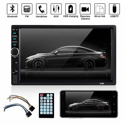 """2 Din 7"""" Car Stereo Radio MP5 Player Bluetooth Mirror Link 7018 In Dash 4LED CAM"""