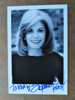American Actress STEPHANIE POWERS Original Signed Photo Card - Dedicated to REX
