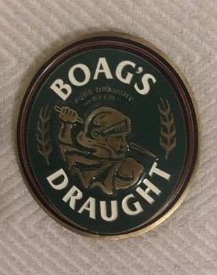 Tap Beer Decal Boags Draught Tasmania Metal Badge Top Free Postage!