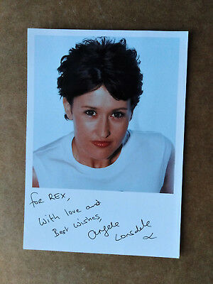ANGELA LONSDALE Orig Signed Card - Dedicated to REX - THE BILL Doctors CASUALTY