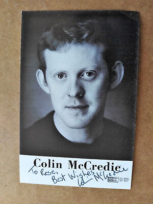 Actor COLIN McCREDIE Original Signed Photo Card - Dedicated to REX - TAGGART
