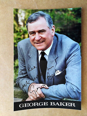 Actor GEORGE BAKER Signed Photo - Dedicated to REX - Minder CORONATION STREET