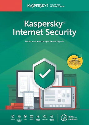 Kaspersky Internet Security 2019 1 PC/dispositivo/1 año/a para 2018 Mac Android