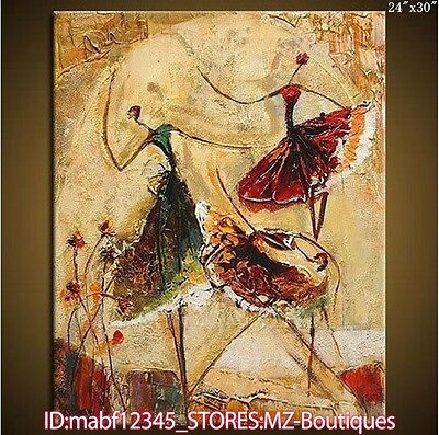 Hand painted Oil Canvas Wall Art home Decor Abstract dancers NO Frame YH633