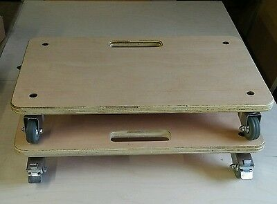 2 x Dolly Truck Platform Car Creeper Removals Trolley Flat Bed Heavy Duty 150kg