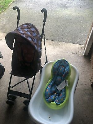 Baby Bundle Summer Infant Right Height Bath Tub  And Toddler Push Chair