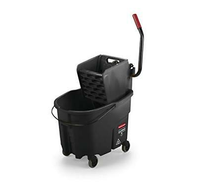 Rubbermaid Commercial WaveBrake Mopping System Bucket and Side-Press Wringer Com