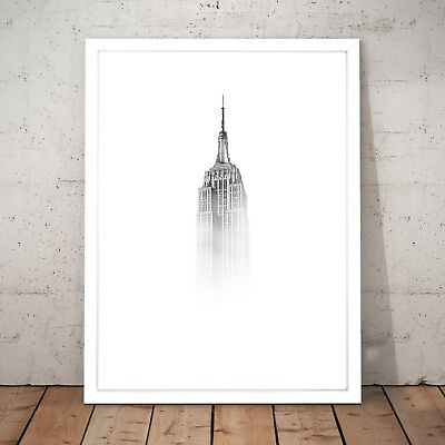 Empire State Building New York Decor Wall Art Poster Print - A3 A2 A1 A0 Framed