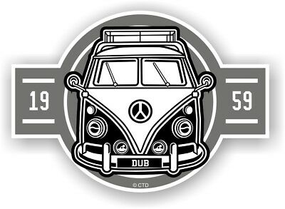 Old School Year Dated 1959 Retro Campervan Camper Van Vinyl car sticker 120x85mm