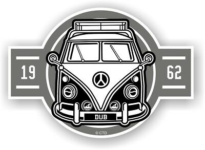 Old School Year Dated 1962 Retro Campervan Camper Van Vinyl car sticker 120x85mm