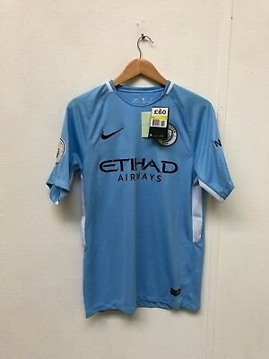 Man City FC Nike Men's 17/18 Home Shirt - S - Champions 18 - New with Defects