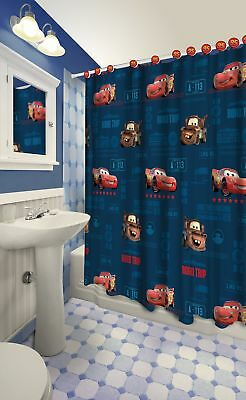 13pc Disney Pixar Cars Clubhouse Shower Curtain And Hooks Set