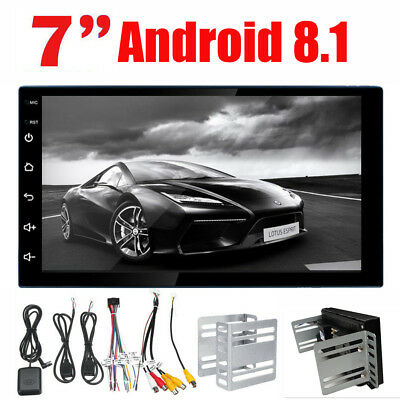 "7"" 2Din Quad Core Android 8.1 Car Stereo MP5 Player GPS Navi Radio In-Dash WiFi"
