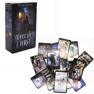 78 Cards Witch Tarot Deck Future Fate Indicator Forecasting Cards Gift