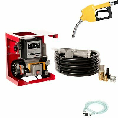 230V Wall Mounted Diesel Transfer Fuel Pump Kit - With Fuel Meter UK