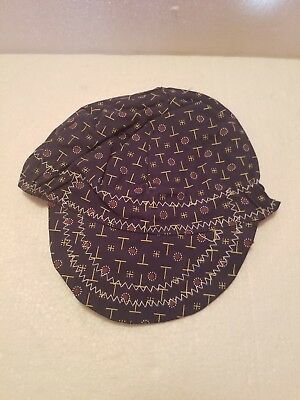 Cap,Welders,Universal, 1H158, Reversible, Patterned on 1-Side and Solid Black On