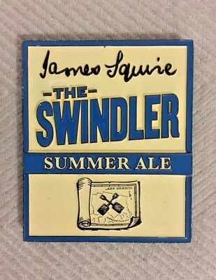 Tap Beer Decal James Squire The Swindler Metal Badge Top FREE POSTAGE!