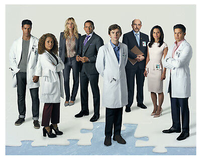 """--(The Good Doctor) tv show """"FREDDIE HIGHMORE & Cast""""--Glossy 8x10 Photo"""