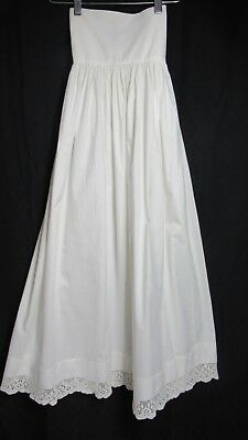 "Antique Victorian Era Christening Slip Crochet Trim 36"" Long"