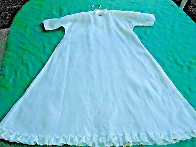 Antique Toddler Dress With Beautiful White Work Hand Embroidery&lace, Cir. 1900