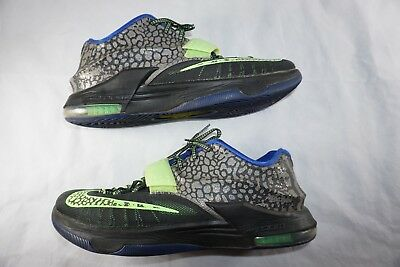 b4c9390134f1 Nike KD VII 7 Electric Eel Metallic Pewter Flash Lime 653996-030 Men s Size