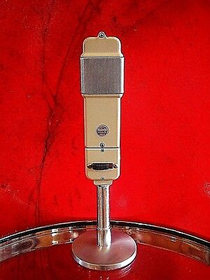 Vintage RARE 1950's Turner S98 dynamic cardioid microphone deco old w stand