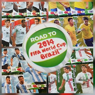 Panini XL Adrenalyn Road to World Cup 2014 Brasil Team Set Lot wählen / choose