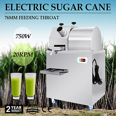 Electric Sugar Cane Press Juicer Commercial Stainless Steel Juice Tray GREAT
