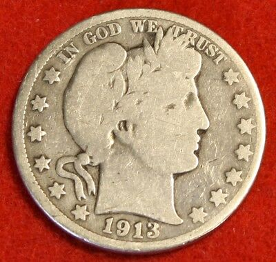 1913-S 50C Barber Half Dollar G Beautiful Coin Check Out Store Bh451