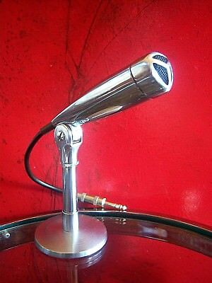 Vintage 1950's Knight crystal microphon variant Electro Voice 926 old w stand
