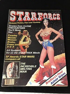 Star Force Magazine July 1978 Wonder Woman Sci Fi Star Trek Lynda Carter